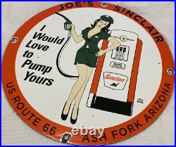 Vintage Sinclair Gasoline Porcelain Sign, Gas Station, Pump Plate, Motor Oil