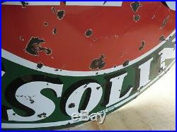 Vintage Sinclair Hc Gasoline 6ft Porcelain Sign Double Sided Getting Hard 2 Find