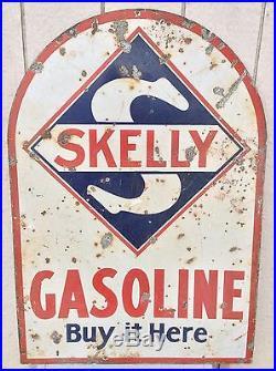 Vintage Skelly Porcelain Gasoline Sign