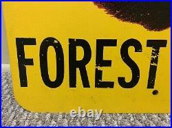 Vintage Smokey Bear Prevent Forest Fires Fiberglass Sign, Large, 18 x 24 RARE