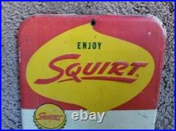 Vintage Squirt soda thermometer in good condition