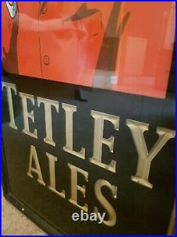 Vintage Tetleys Bitter Beer Ale Tetley Yorkshire Hunt Master Man Cave Sign pub