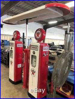 Vintage Texaco Gas Pump, Red, Antique