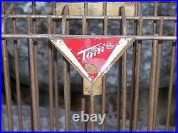 Vintage Tom's Peanuts Metal Display Store Counter Rack Sign 1930-40's Original