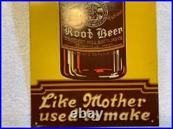 Vintage Tower Root Beer, Somerville, MA Embossed Metal Sign