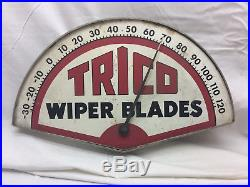 Vintage Trico Wiper blades Advertising thermometer Automobile Car Man Cave Sign