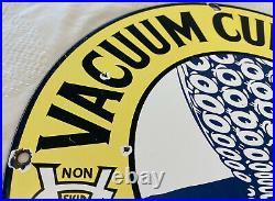 Vintage Vacuum Cup Tires Porcelain Sign Pennsylvania Gas Oil Auto Shop Garage