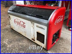 Vintage Victor CL-35A Coca Cola Embossed 3 Door Cooler Diner Soda Fountain Bar