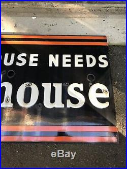 Vintage Westinghouse Porcelain Sign Neon Skin -NICE