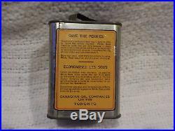 Vintage White Rose Gas EN-AR-CO Boy Motor Oil Can Advertising Tin Coin Bank Sign