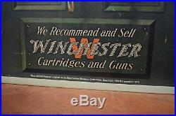 Vintage Winchester Metal Sign Firearm Dealer Advertising 1970s original Gun Shop
