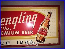 Vintage Yuengling Premium Beer Metal Embossed Advertising Sign Pottsville, PA