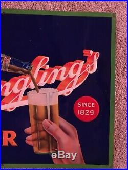 Vintage Yuengling Prize Beer Sign Pottsville PA Beer Advertising Tin Sign