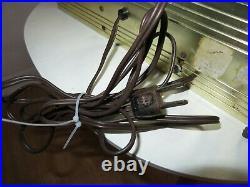 Vintage Zenith Clock Lighted Advertisement Service Parts Tubes Batteries 1950's