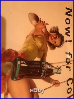 Vintage cardboard advertising sign Coka Cola Soda