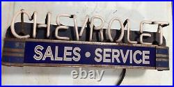 Vintage chevrolet sales service neon sign 18 Long GMC light Up