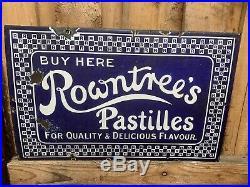 Vintage enamel advertising sign Rowntrees Pastiles
