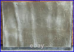 Vintage original advertising Grape Ola soda metal sign 27.5 x 19.5