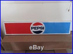 Vintage pepsi cola metal sign red blue white advertising man cave soda ORIGINAL