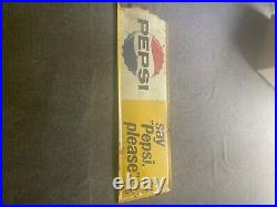 Vintage pepsi sign metal