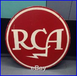 Vintage rare large RCA Tubes Sign Advertisement