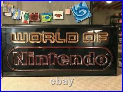 Vintage retro rare huge Nintendo super brite store display sign. Exc. Cond