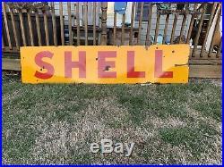 Vintage shell porcelain sign Texaco Gulf Sinclair