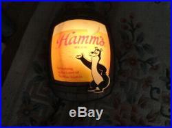 Vintage sign Hamm's Beer Barrel Bear Advertising Bar Wall Light