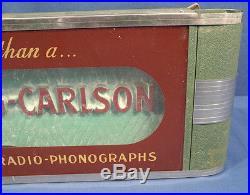 Vtg Antique Stromberg-Carlson Neon Advertising Sign Radio Television Phonographs