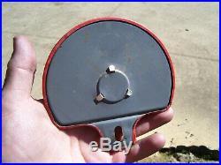 Vtg Atlantic White Flash Gas Oil License Plate Topper Red Jewel Auto Reflector