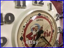 Vtg Deco Old Ge Advertising Frostie Root Beer Soda Diner-wall-clock Sign-dads