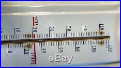 Vtg Enamel Prestone Anti-Freeze Thermometer Original Gas Oil Advertising Sign
