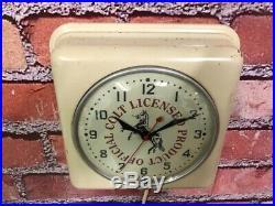 Vtg Ge Old Colt Gun Shop Dealer Product Advertising Display Wall Clock Sign Grip