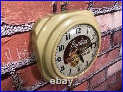 Vtg Hammond Bordens Ice Cream-milk Old Diner Advertising Kitchen Wall Clock Sign
