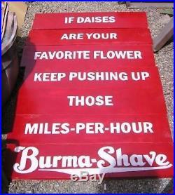 Vtg Look Burma Shave Reproduction Wood Sign HP 6 Pcs Any Slogan You Choose