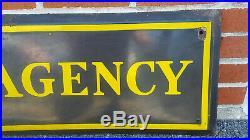 Vtg Railway Express Agency 6 Ft. Long Porcelain Sign Railroad Sign Advertising