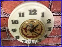 Vtg Telechron-ge Frostie Root Beer Soda Store Advertising-diner Wall Clock Sign