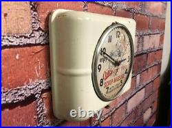 Vtg Westclox Oster Massage-old Barber Shop Shaving Mirror Advertising Wall Clock