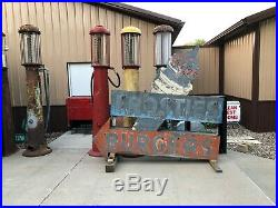 WOW! Vintage ORIGINAL Neon FROSTIES BURGERS Ice Cream OLD SIGN 2 Sided Gas Oil