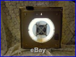 Winchester Guns Pam Clock 1966 Lighted Dealer Wall Vintage Sign