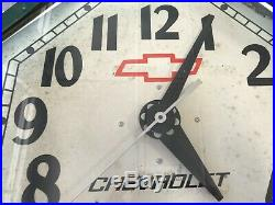 Working Vintage Chevrolet Logo Neon Clock